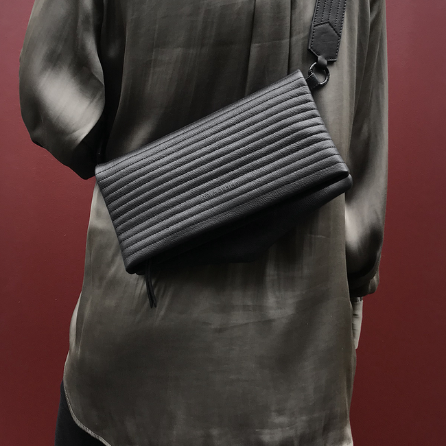 Noir Desire, Danish Design Bags ND folded bag pinstripe #6 clutch, crossbody, shoulderbag