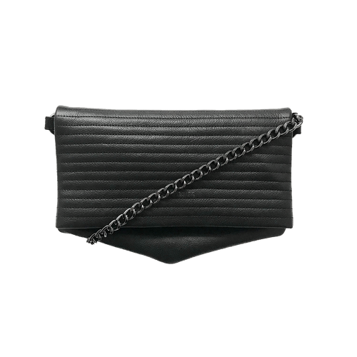 Noir Desire, Danish Design Bags ND folded bag pinstripe #7 clutch, crossbody, shoulderbag