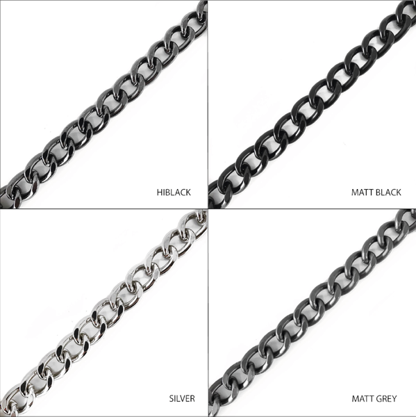 Noir Desire, Danish Design Chain Double wave curb chain 90 cm (video)