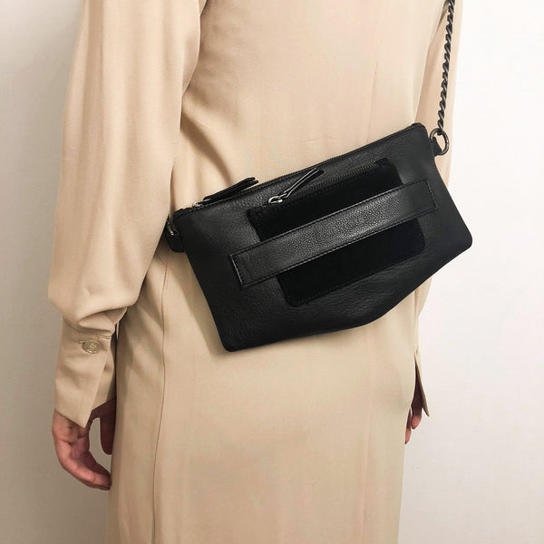 Noir Desire, Danish Design Leather bag Hiblack ND L.A - Clutch, crossbody & shoulder bag