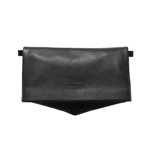 Noir Desire, Danish Design Leather bag ND Folded bag leather - Clutch, Crossbody, Shoulder bag