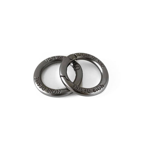 Noir Desire danish design open rings Default Title Open rings 2 pcs. - Matt grey