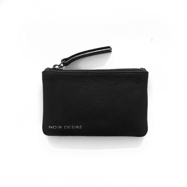 Noir Desire, Danish Design wallet Small wallet for cards, Black leather