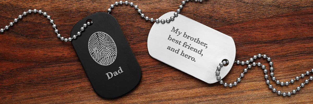 Fingerprint Dog Tag