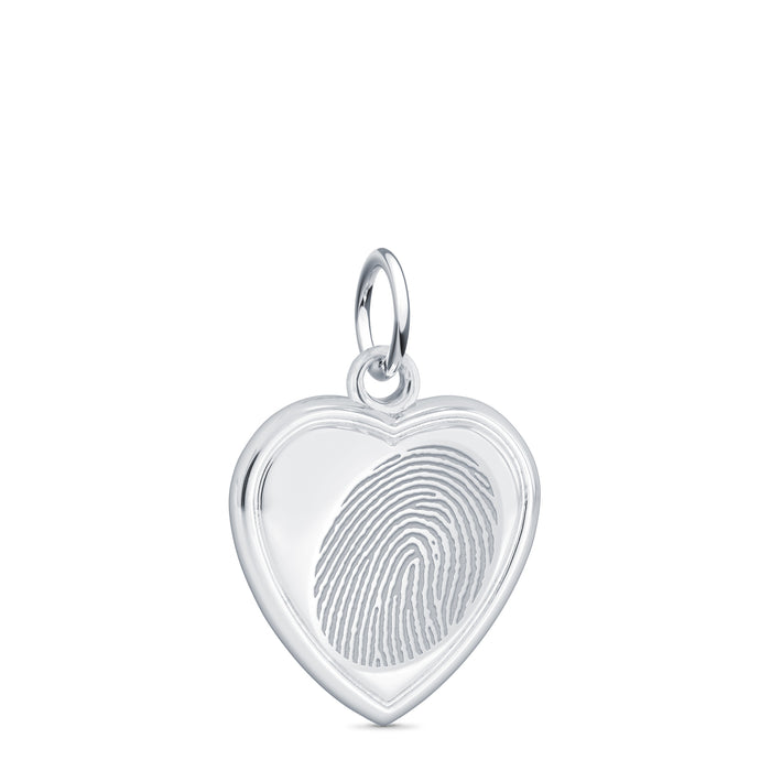 Sterling Silver Vertical Heart Charm - Legacy Touch -- Dev