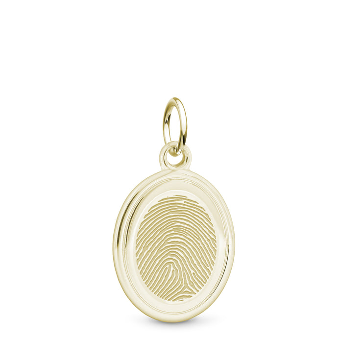 14k Yellow Gold Oval Charm - Legacy Touch -- Dev