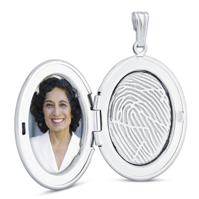 Sterling Silver Oval Locket - Legacy Touch -- Dev