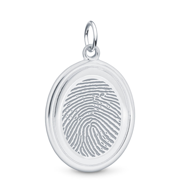 Sterling Silver Oval Pendant - Legacy Touch -- Dev