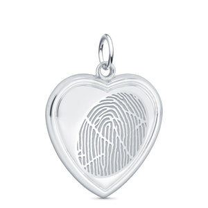Sterling Silver Vertical Heart Pendant - Legacy Touch -- Dev