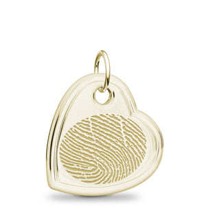 14k Yellow Gold Offset Heart Pendant - Legacy Touch -- Dev