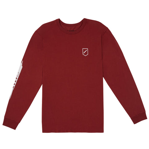 SLASH 2 L/S TEE - WINE