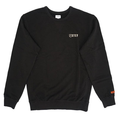 CREW PULLOVER FLEECE - BLACK