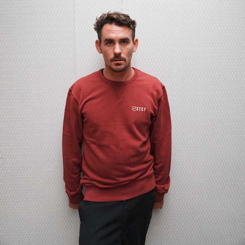 TEAM CREW PULLOVER FLEECE - WINE