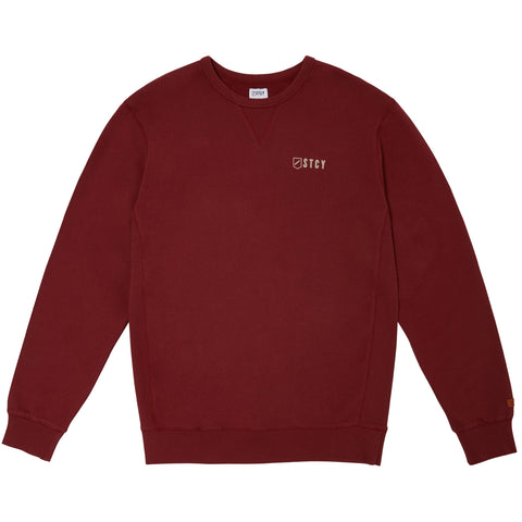 CREW PULLOVER FLEECE - WINE