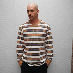 CRUISER STRIPE LONGSLEEVE TEE - NATURAL