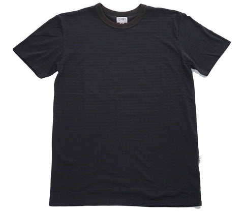 MINI FEEDER STRIPE TEE - VINTAGE BLACK / NAVY