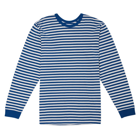 MINI FEEDER STRIPE LONGSLEEVE TEE - OFF WHITE/VINTAGE DENIM