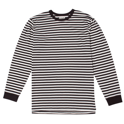 MINI FEEDER L/S STRIPE TEE - OFF WHITE / VINTAGE BLACK