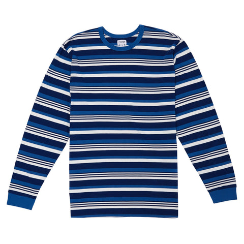OLD SCHOOL STRIPE LONGSLEEVE TEE - VINTAGE DENIM