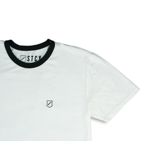 SHIELD RINGER TEE - OFF WHITE