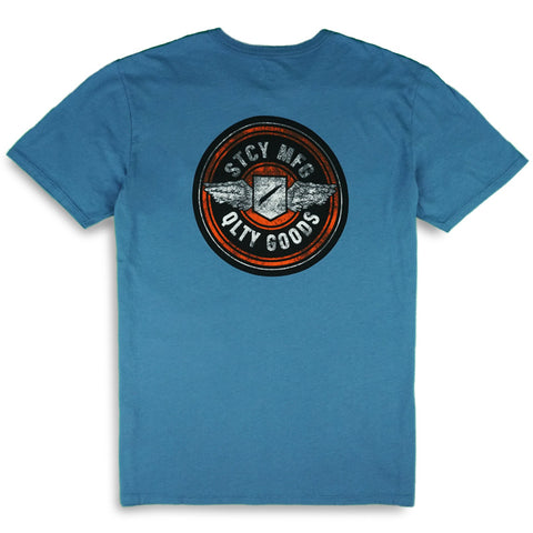 WINGER TEE - STEEL BLUE