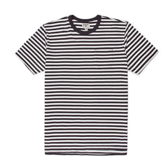 Stacey Mini Feeder Stripe Tee - Off White/Vintage Black
