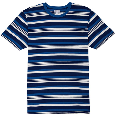 OLD SCHOOL STRIPE TEE - VINTAGE DENIM