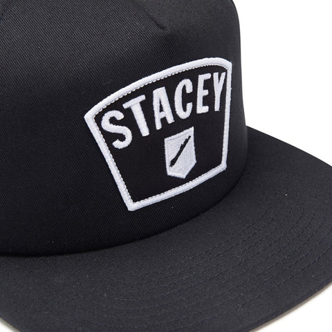 Stacey Big Patch Trucker - Black/White