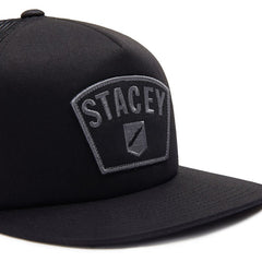 Stacey Big Patch Trucker - Black