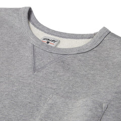 Stacey Crew Pullover Fleece - Washed Grey Heather
