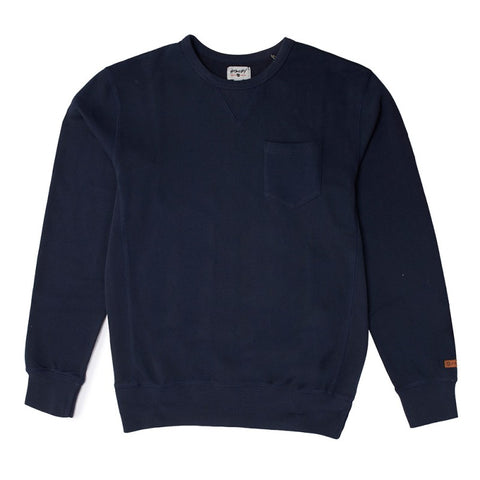 Stacey Crew Pullover Fleece - Vintage Navy