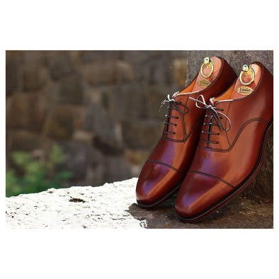Loake Aldwych Dark Brown leather oxford.