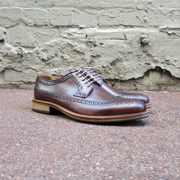 Gingers for Gentlemen GALLERY brown leather brogue.