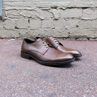 Rodeo Brown Tumbled Leather Derby