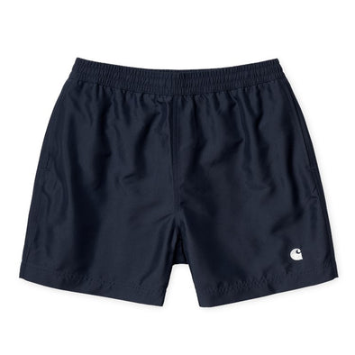 Cay Swim Trunk - Dark Navy / White