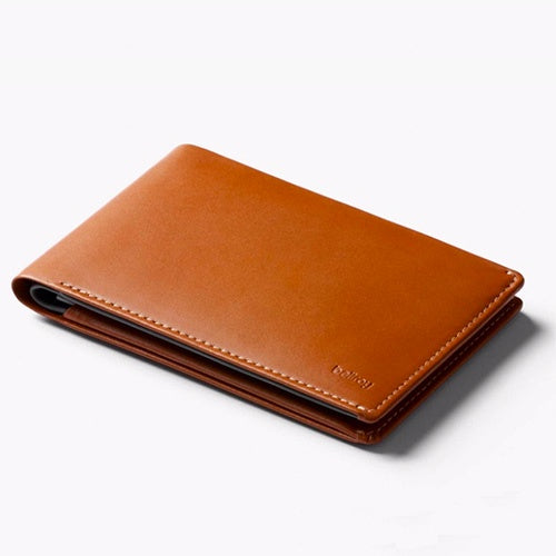 Travel Wallet with RFID - Caramel