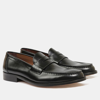 Juan Penny Loafer - Black - Gingers & Providence