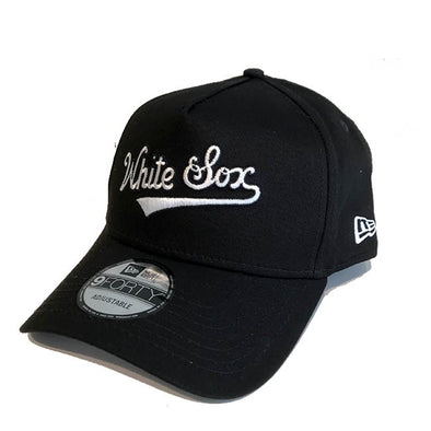 Chicago White Sox A Frame 9FORTY Cooperstown Script Snapback Black - Gingers & Providence