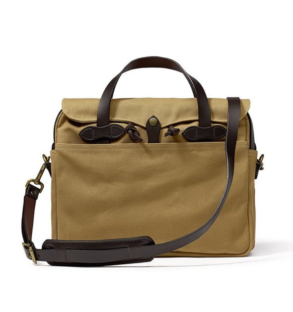 Rugged Twill Original Briefcase - Tan - Gingers & Providence