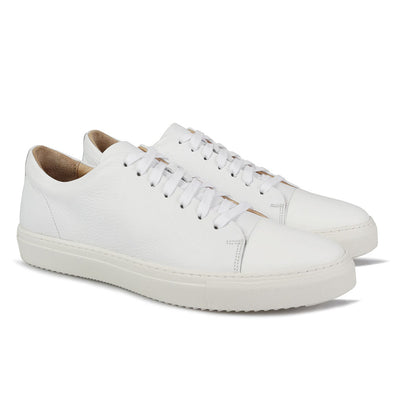 Barry Tumbled Leather White