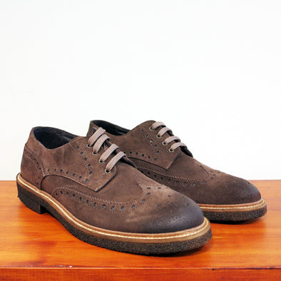 Brixton Brown Suede Brogue