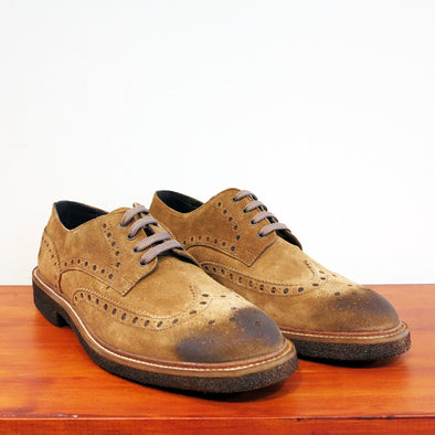 Brixton Tan Suede Brogue