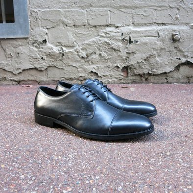 Canne Black Leather Derby - Gingers & Providence