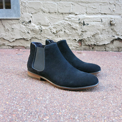 Harrow 3 Black Suede Chelsea Boot - Gingers & Providence