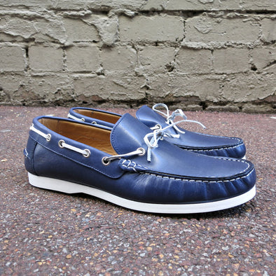 Kennedy Boat Shoe - Navy - Gingers & Providence