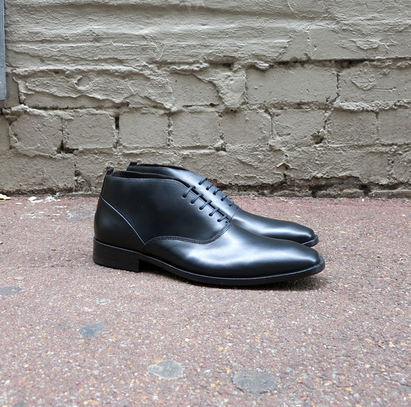 Lennon Black Leather Business Boot - Gingers & Providence