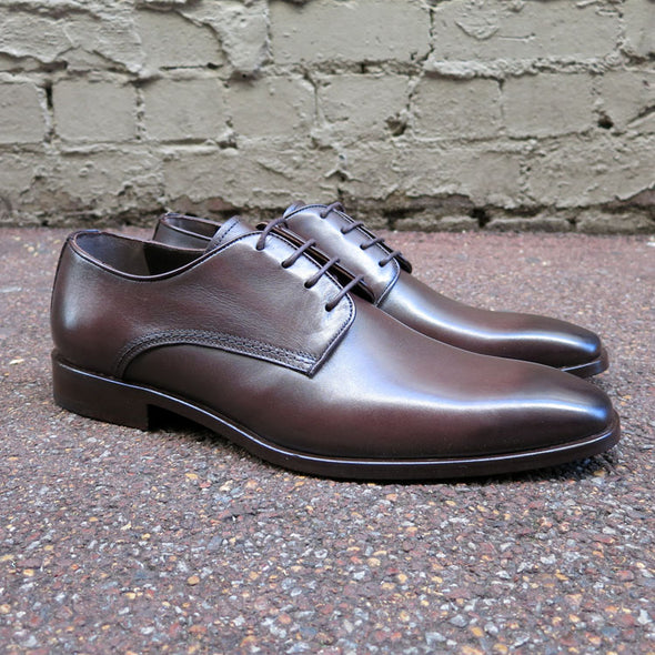 Mills Leather Derby - Brown - Gingers & Providence