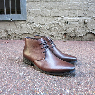 Monforte Leather Lace Up Boot - Brown - Gingers & Providence