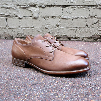 Pacifico Leather Derby - Camel - Gingers & Providence