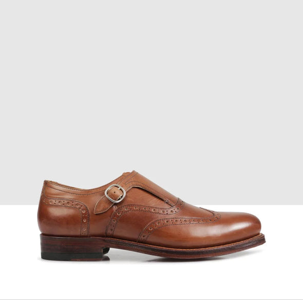 Xavier Monk Strap Brown